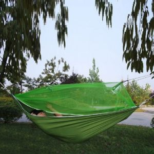 DR 7510 Hamak Camping s pláštěnkou 210X140cm