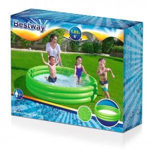BESTWAY BESTWAY 51027 Dětský bazén jednobarevný 188x33xm Modrá