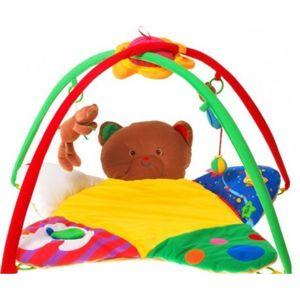 ZA0690 DR Dětská deka s hrazdičkou plyšový medvídek