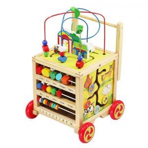 DR Dřevěný vozík - vzdělávací kostka