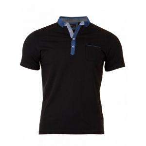 VERSABE Pánské Polo tričko černé VS-PO 1907 S
