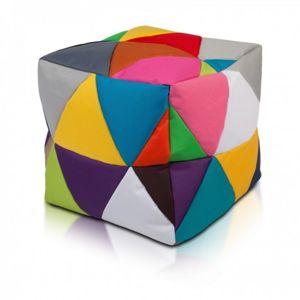 Ecopuf Taburetka - CUBE - S polyestér barevný